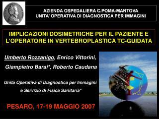 AZIENDA OSPEDALIERA C.POMA-MANTOVA UNITA' OPERATIVA DI DIAGNOSTICA PER IMMAGINI
