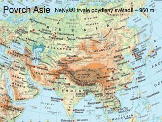 Povrch Asie