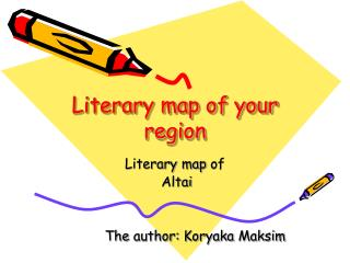 Literary map of your region