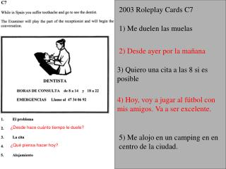 2003 Roleplay Cards C7