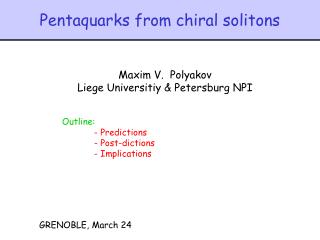 Pentaquarks from chiral solitons