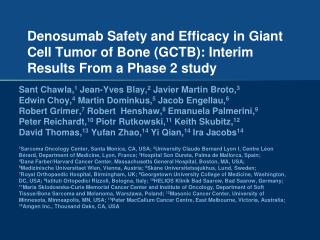 Giant Cell Tumor of Bone (GCTB)
