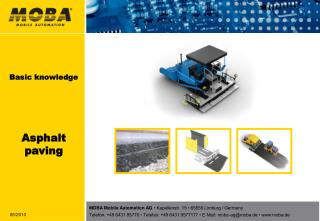 Basic knowledge Asphalt paving