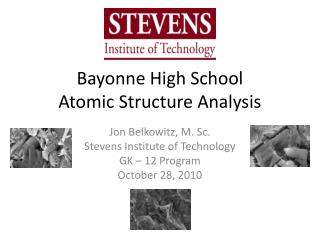 Bayonne High School Atomic Structure Analysis