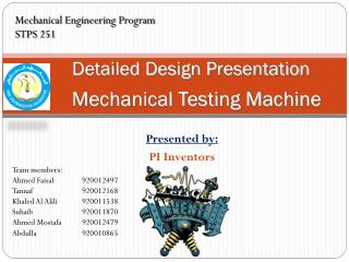 Detailed Design Presentation