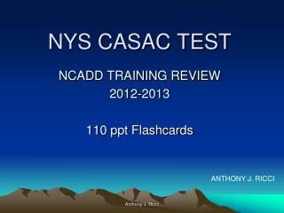 NYS CASAC TEST