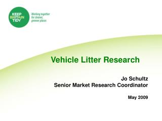 Vehicle Litter Research