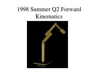 1998 Summer Q2 Forward Kinematics