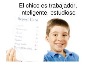 El chico es trabajador, inteligente, estudioso