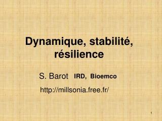 Dynamique, stabilité, résilience