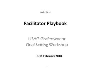 Draft 2 Feb 10 Facilitator Playbook
