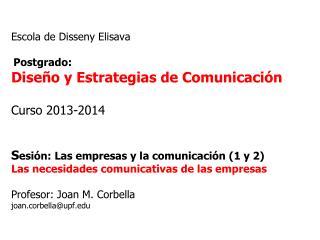 La empresa y la comunicación