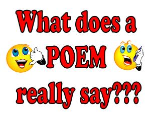 What does a POEM really say???