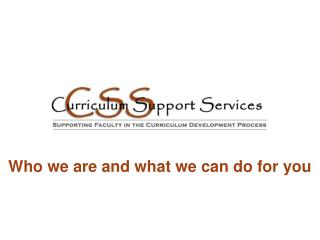 Who we are and what we can do for you