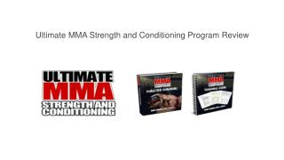 Ultimate MMA Strength and Conditioning Program Review