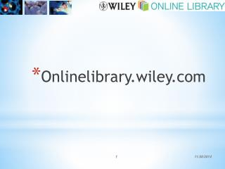 Onlinelibrary.wiley
