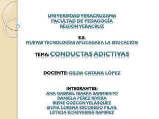 UNIVERSIDAD VERACRUZANA FACULTAD DE PEDAGOGÍA REGIÓN VERACRUZ E.E.