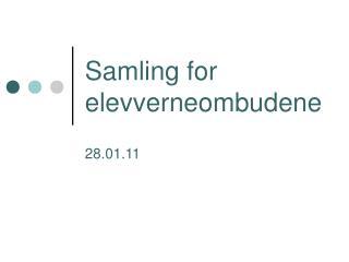 Samling for elevverneombudene
