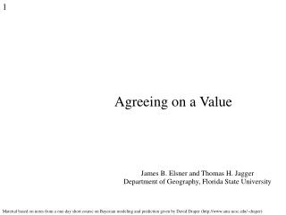 Agreeing on a Value