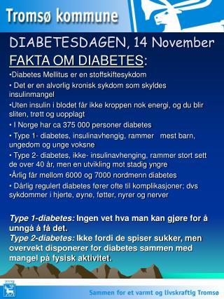 DIABETESDAGEN, 14 November