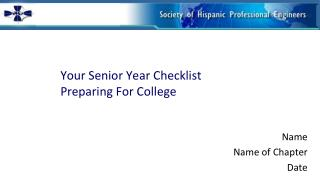 Your Senior Year Checklist Preparing For College