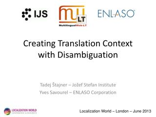 Creating Translation Context with Disambiguation