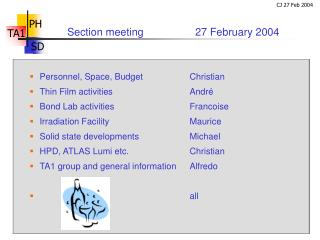 Section meeting    		27 February 2004
