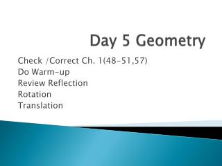 Day 5 Geometry