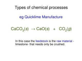Types of chemical processes
