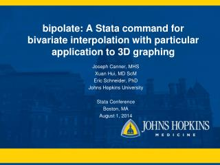 bipolate : A Stata command for bivariate interpolation with particular application to 3D graphing