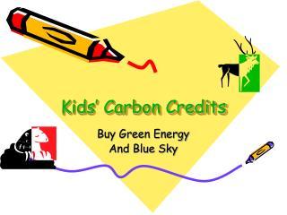 Kids' Carbon Credits
