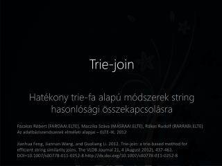 Trie-join