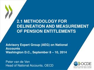 2.1 Methodology for delineation and measurement of pension entitlements