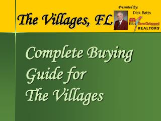 Complete Buying Guide for  The Villages
