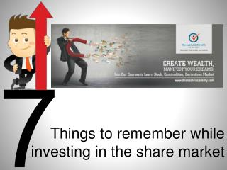 Important Things that Every Investor Must Remember