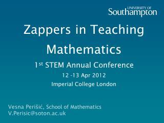 Vesna Periši ć , School of Mathematics V.Perisic@soton.ac.uk