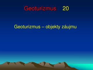 Geoturizmus 20