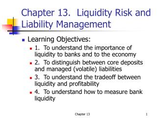 Chapter 13.  Liquidity Risk and Liability Management