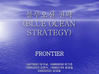 블루오션 전략 (BLUE OCEAN STRATEGY)