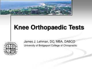 Knee Orthopaedic Tests