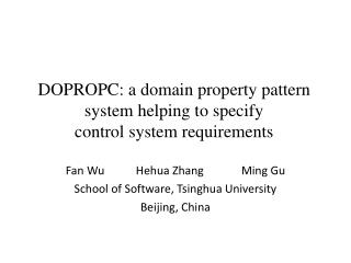 DOPROPC: a domain property pattern system helping to specify  control system requirements
