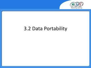 3.2 Data Portability