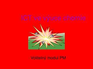 ICT ve výuce chemie