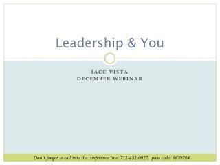 Leadership & You