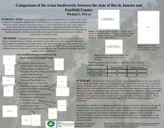 Comparison of the avian biodiversity between the state of Rio de Janeiro and Fairfield County