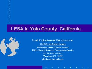 LESA in Yolo County, California