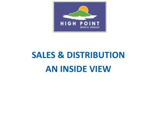 SALES & DISTRIBUTION AN INSIDE VIEW