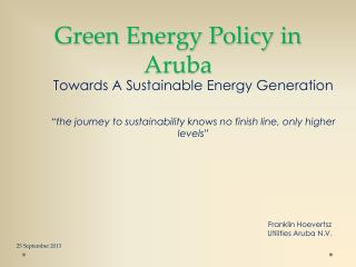 Green Energy Policy in Aruba