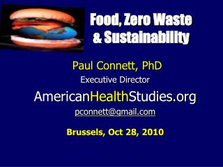 Food, Zero Waste  & Sustainability