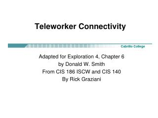 Teleworker Connectivity